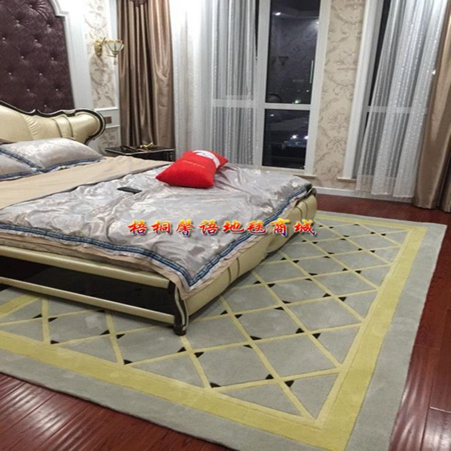 elegantno karirasto ikea preprogo preprosto modo v dnevni sobi mizico spalnici postelji ročno akrilna vlakna preproge