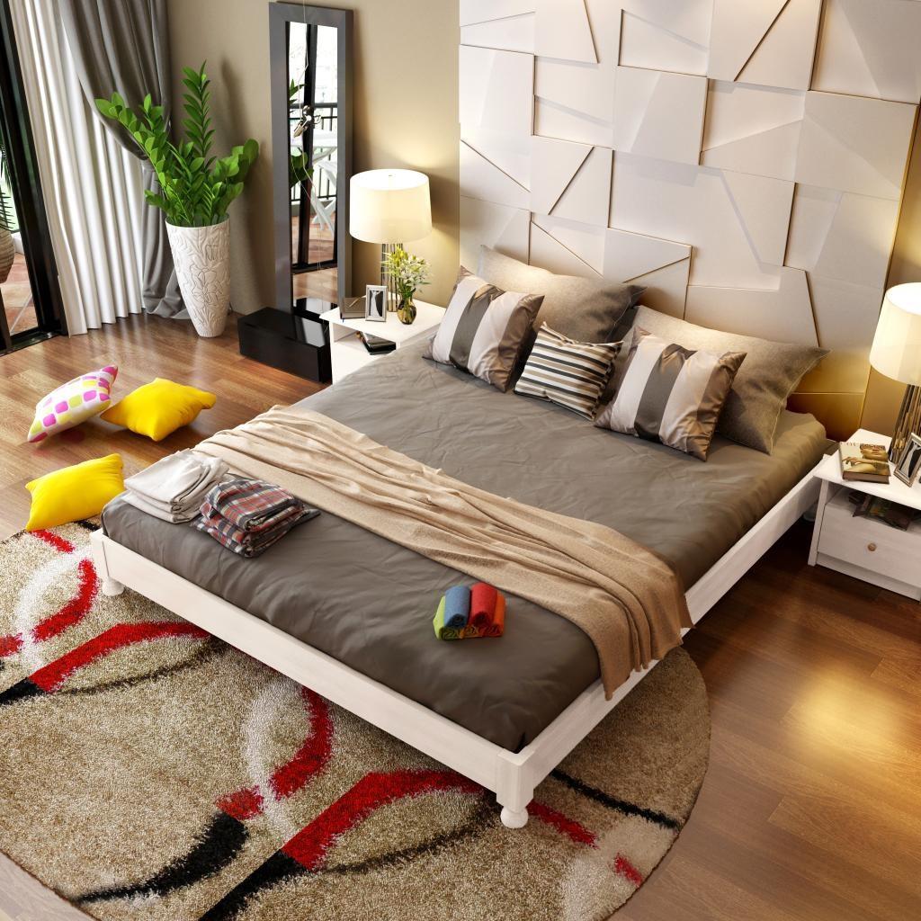 No oak wood tatami bed bed double bed frame 1.5 meters 1.8 bed children Nordic custom hotel bedroom