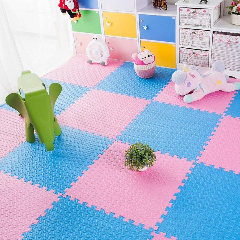 On the floor crawling pad mat white box green thickened foam tatami mat bedroom square children
