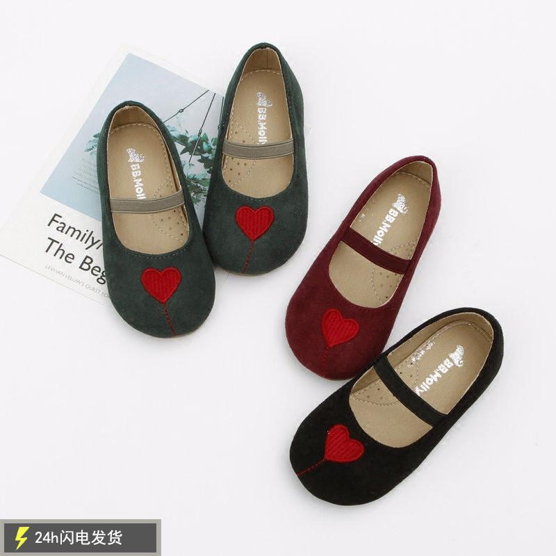 女童小皮鞋黑色201