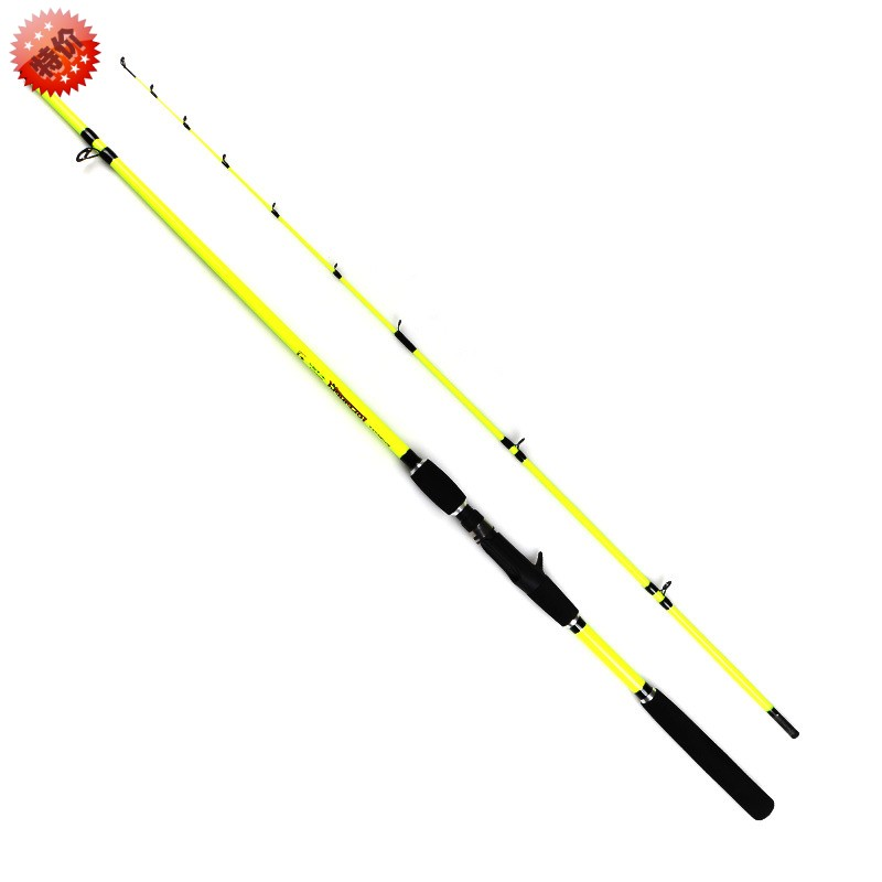 Halleluyah pole set special offer carbon water wheel straight handle grips spinning round rod rod fishing sea rod Lei Qiang