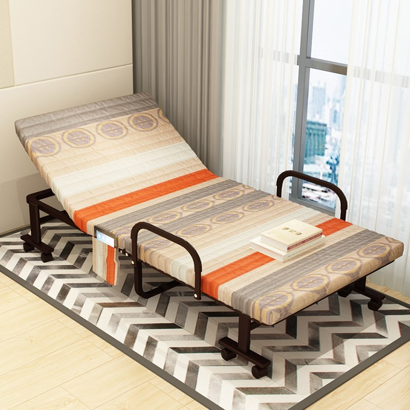 A single lunch bed, a double camp bed, a simple accompanying office, a nap, an economical metal folding bed 1112