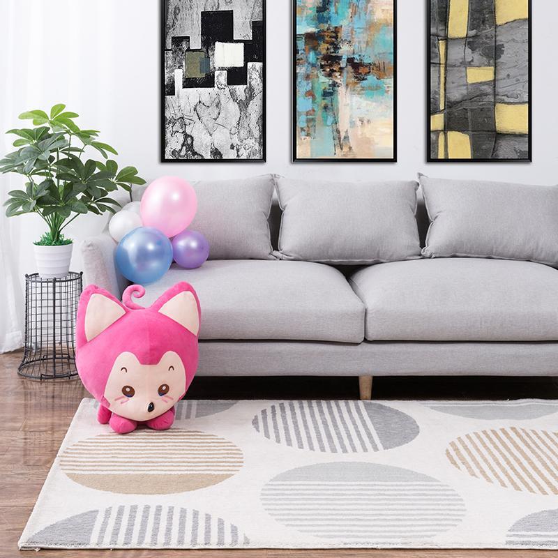 Unires nórdico moderno ultra flexible de fibras de alfombra sala sofá cama en el dormitorio de la manta colocada una manta