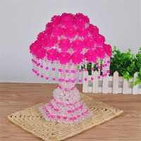 2017 new beads lamp package Peony Rose Princess ornaments beads weave wedding gift room