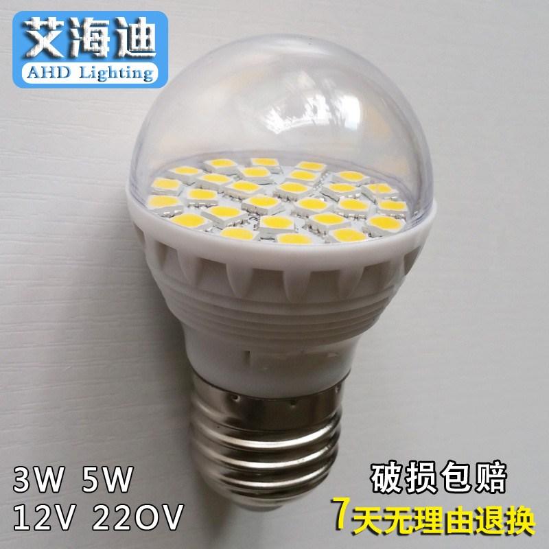 Led - glühbirne der schraubverschluss e27 lampen super Hell 3w5w transparent auf energiesparende glühbirnen 12V24V220V