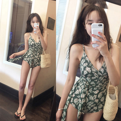 Swimming Suit Korean version swimwear female sexy cover belly thin