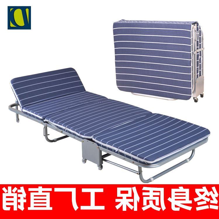 La cama de sábanas de cama plegable DZ Oficina del hombre invisible una tumbona la multifuncional de refuerzo de madera con la esponja de la cama