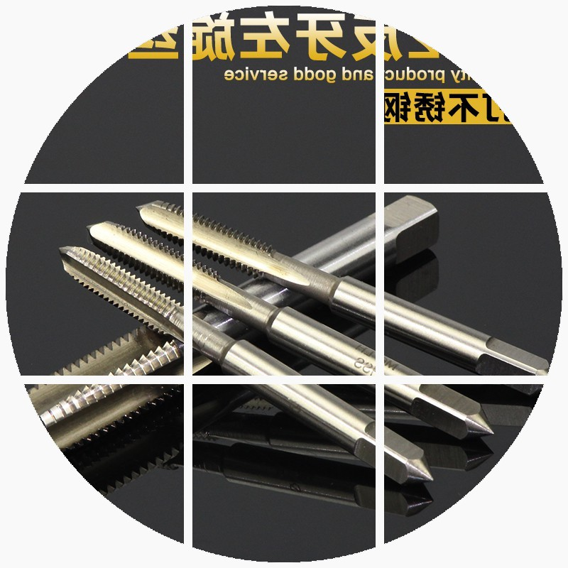 Global hot special machine with stainless steel drill tap tapping teeth with anti left teeth silk m3m4m