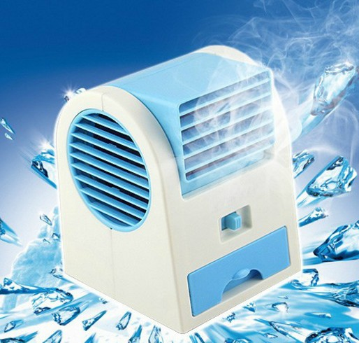 冷房扇リモコン家庭用ミニ扇風機創意車載マイクロエアコン風機放水冷凍水電池
