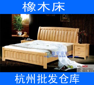 Special oak bed, solid bed double bed, Thailand rubber wood 1.5/1.8 meters