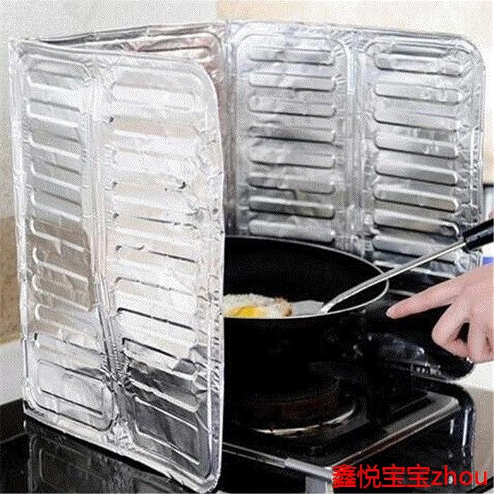 готовить высокотемпературные алюминиевой фольги теплоизоляции анти - масло перегородку жарки брызги масла изоляции очага нефти маслоотражатель кухня