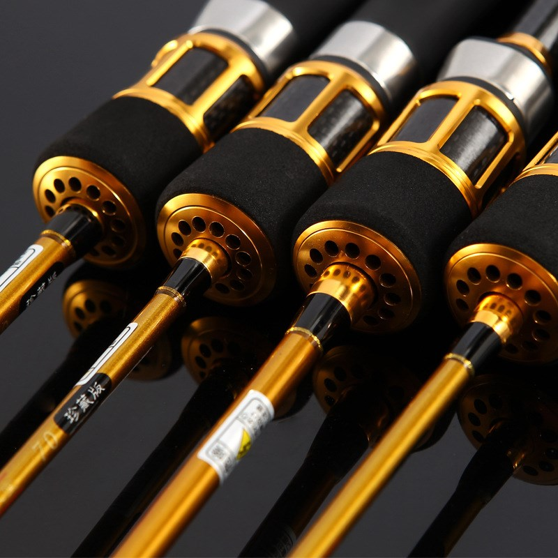 Titanium alloy soft tail micro lead raft stem raft pulley water drop suit carbon fishing rod raft rod fishing rod