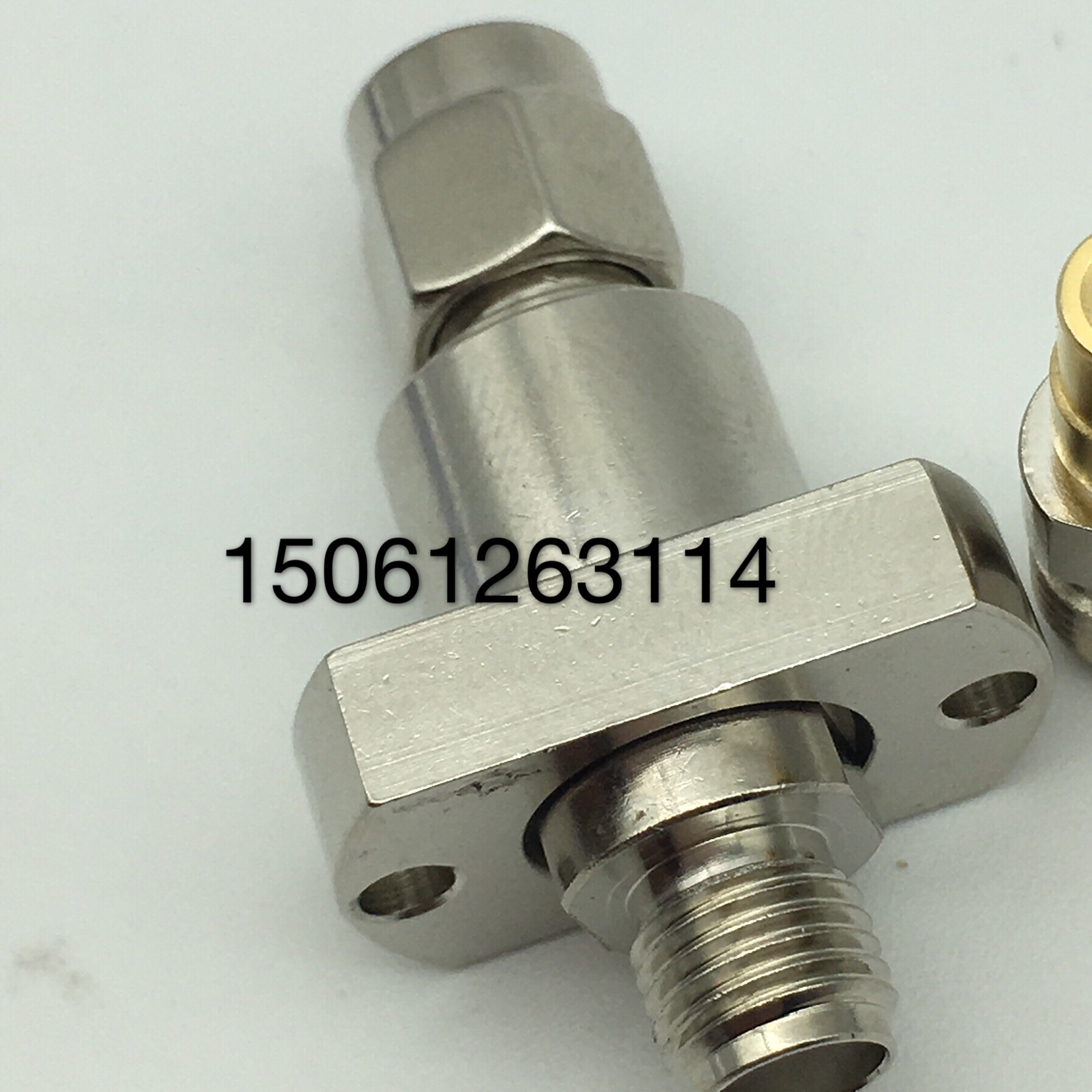 SMA-JKF mobile phone signal RF test head imported RF high frequency SMA revolution mother belt flange test 0-6G