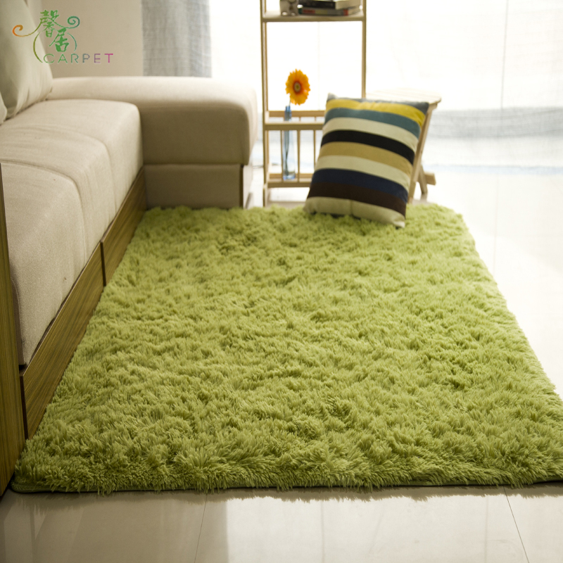 Thickened water wash off color silk wool carpet mat bed room table covered with tatami can be customized