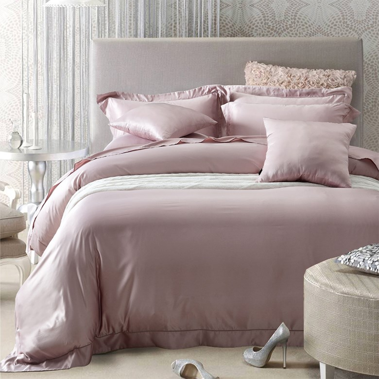 Silk satin silk bedding sheets naked fitted four piece summer quilt Tencel pure water