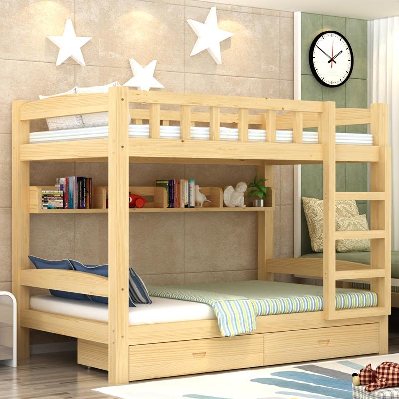 Cama de beliche de Madeira de Pinho EM crianças com beliche Ou CAMA Chuang Zi - dormitório CAMA CAMA CAMA de adulto