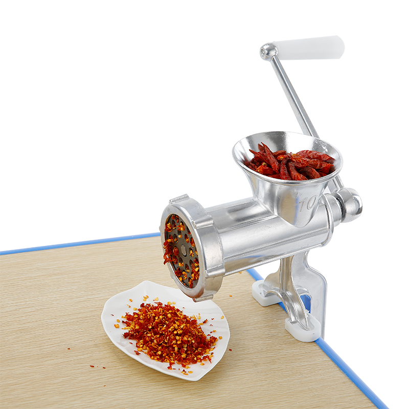 The meat grinder meat enema machine household No. 10 small garlic sausage cooking machine manual hand reamer cutter dish incense