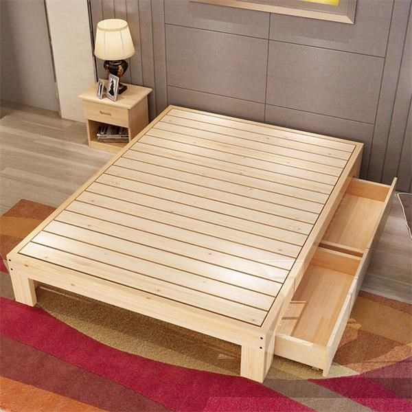 My bed 1 meters 1.2 meters 1.5 meters 1.8 meters can be customized special offer single bed double bed pine wood bed