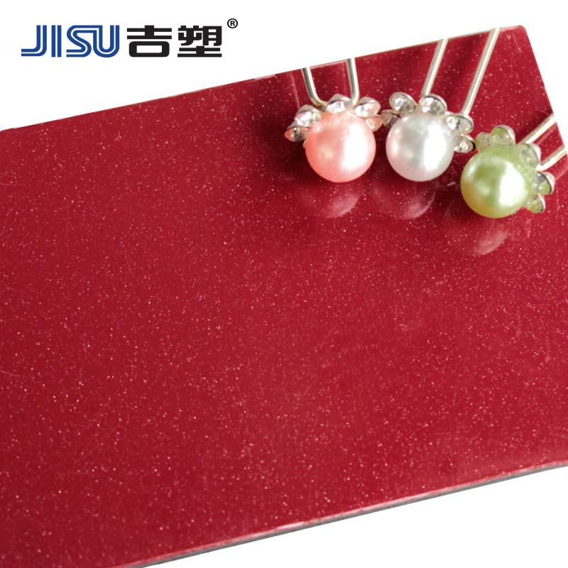 - alambre de plástico 3mm12 flash cuentas vino rojo destaca en la placa de aluminio de la decoración de las paredes exteriores de la pared de fondo de la publicidad