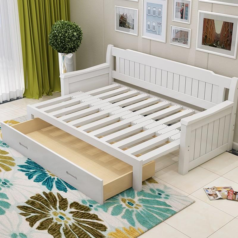 απλό ξύλινο πολυλειτουργικά πτυσσόμενο καναπέ - κρεβάτι ανακληνώμενα ένταση στο σαλόνι του μικρού μεγέθους κρεβατοκάμαρα 1,5 1,2