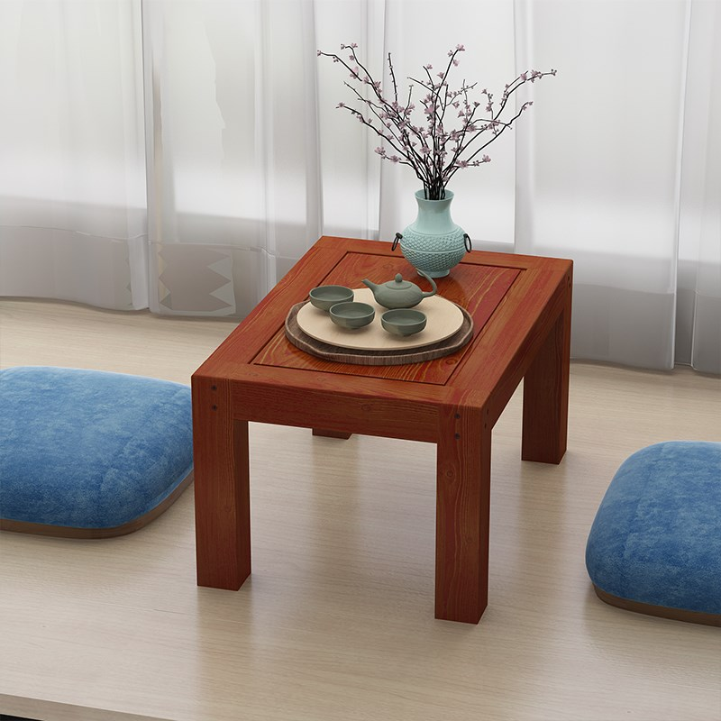 Solid wood table table tatami bed dormitory windows small table Japanese shipping low table computer platform table