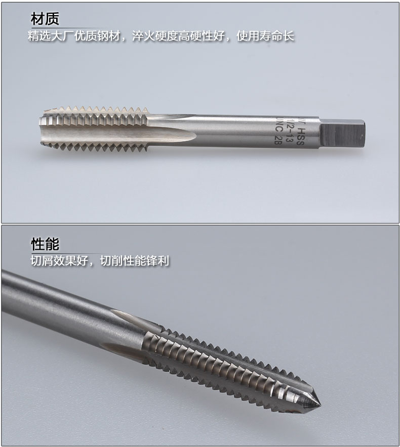 Tap tap HSS high speed steel production made straight slot machine 1 inch 1/4-12UNF-14UNS-16UN