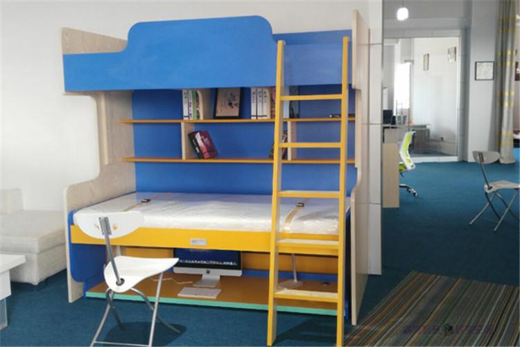 IL Piano di sopra e sotto il letto doppio letto un Libro letto Multi - funzione di Stazione di Piccole Unità Mobili Della Casa Madre a letto Insieme.