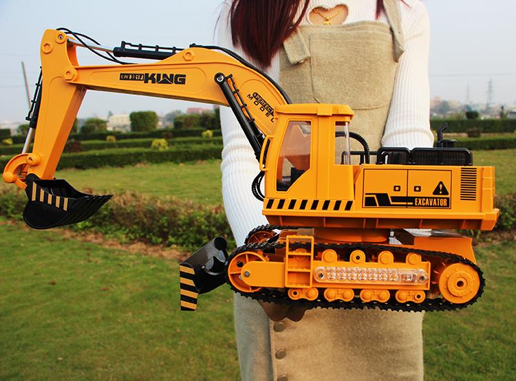 XXL - Bagger bulldozer - erhebung betriebene fernbedienung auto Urlaub geschenk MIT Licht - Jungen - spielzeug