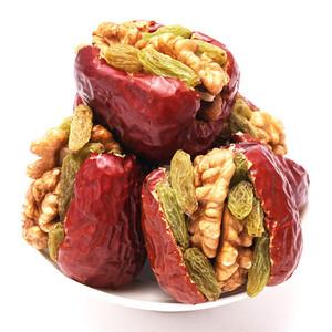 红枣夹核桃仁葡萄干500g新疆特产一等和田大枣什锦枣夹核桃夹心枣