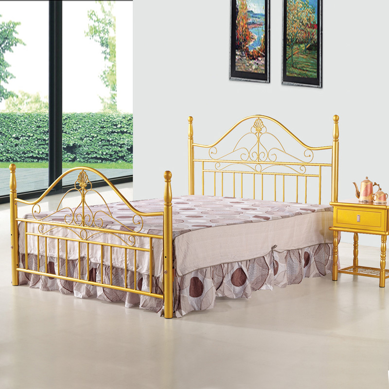 Moorhouse HD703-A Korean Tieyi bed children princess bed garden style high bed tail / double bed