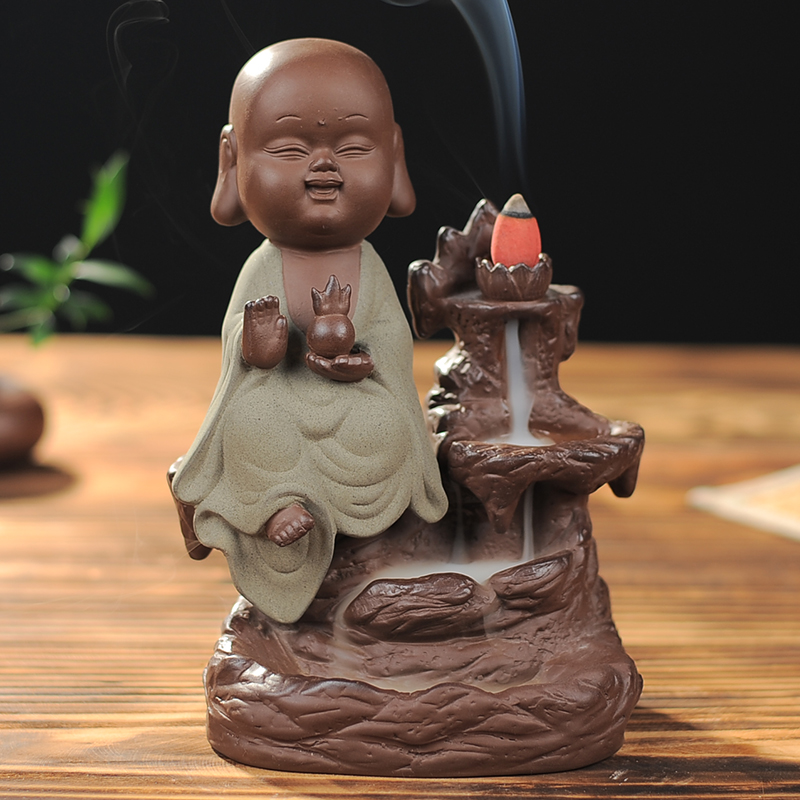 The new creative Guanyin monk incense incense ornaments back back ornaments incense ornaments Home Furnishing jewelry ornaments