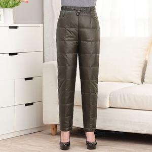 妈妈装羽绒裤女中年内外穿高腰加厚加肥加大男女冬季长裤反季清仓