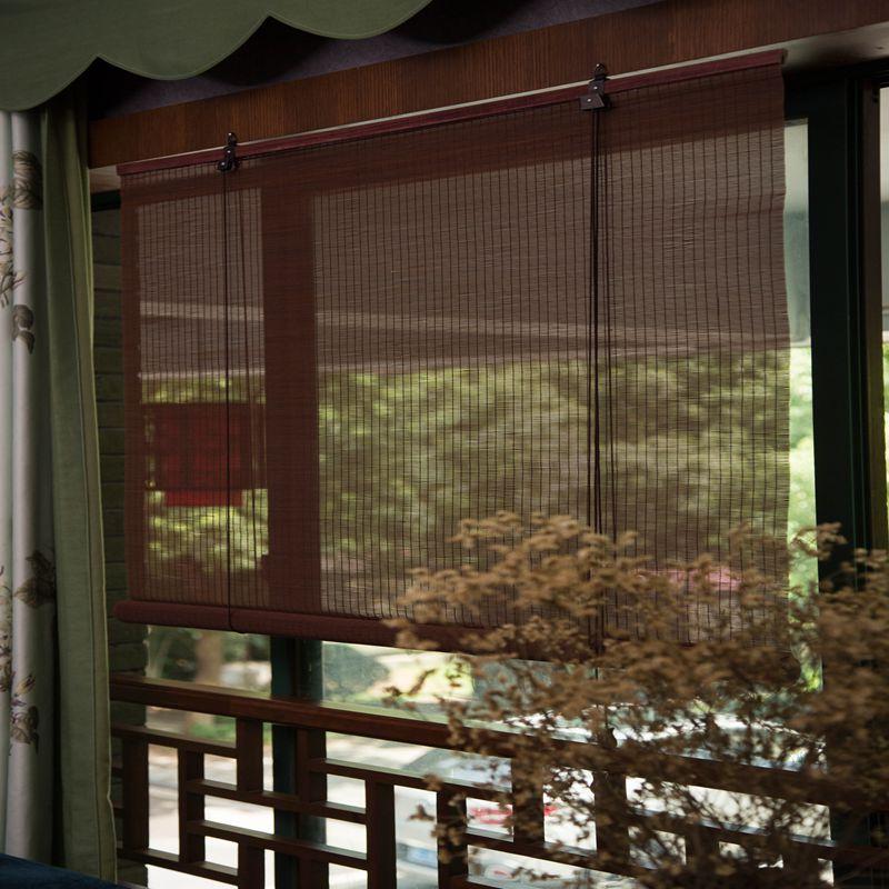 jopa liikkuvan verhon pois esirippu verhot parvekkeelta olohuoneessa, japanin toimisto - teehuone bambu verhot.