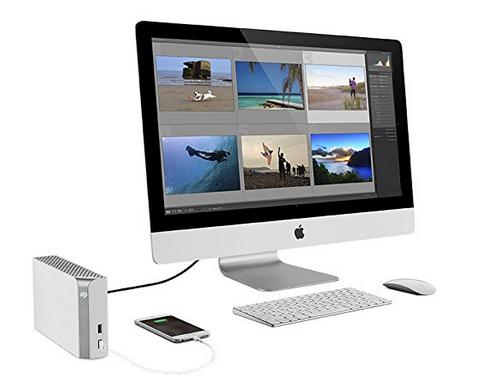 Seagate Seagate BackupPlusHub8TB8T3.5 Zoll festplatte zwei USB - weiß