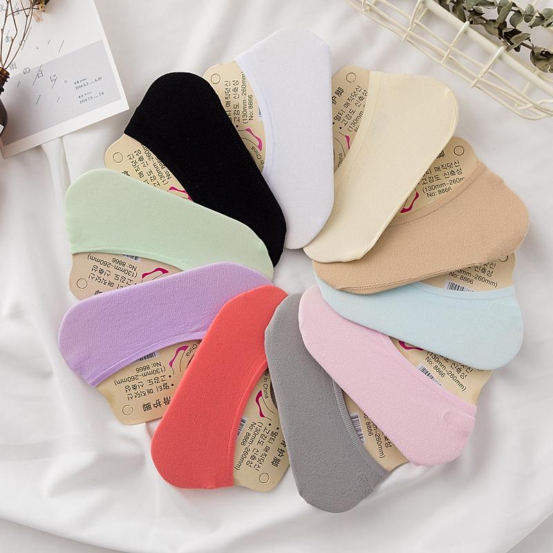 Elke dag twee met speciale] [10 - silicagel sokken ondiepe mond fluwelen vrouwelijke pure magie sokken op snoep.