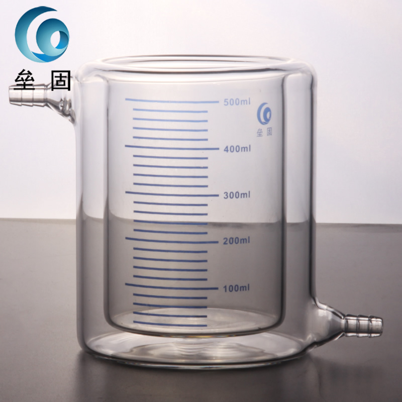 Jacketed beaker, double beaker, laminated glass beaker photocatalytic reactor 2000ml