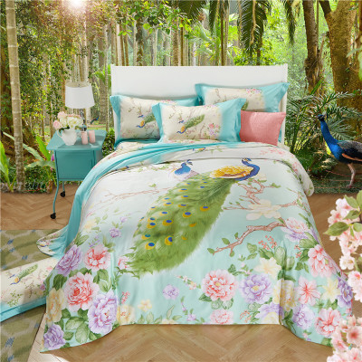 Heidi dream home double four piece bedding Tencel 1.5/1.8m2.0 meters 4 sets of bedding in spring and summer