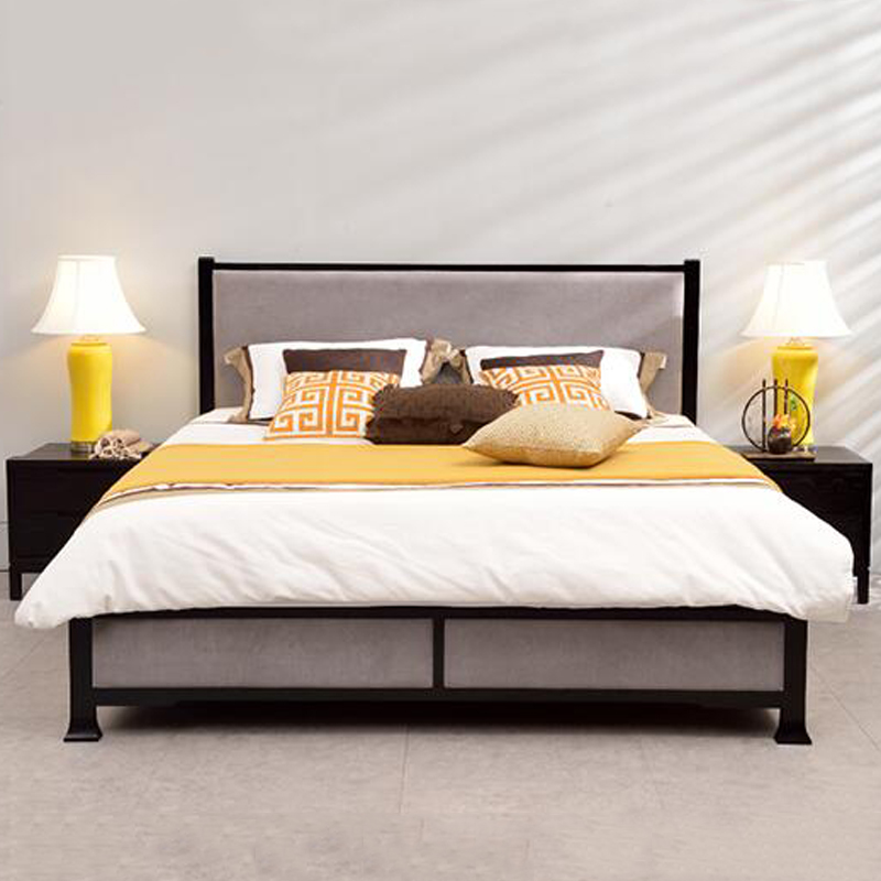 Modern Chinese simple wood 1.8m double bedroom Zen model 2 meters of new Chinese Style Furniture Customization