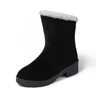 冬季雪地靴女厚底新款加绒加厚平底学生粗跟流苏棉鞋保暖鞋潮2019