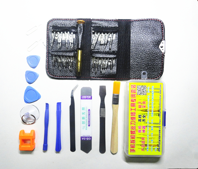 Mini mobile phone computer screwdriver set disassemble repair tool bag type screwdriver set combination Watch