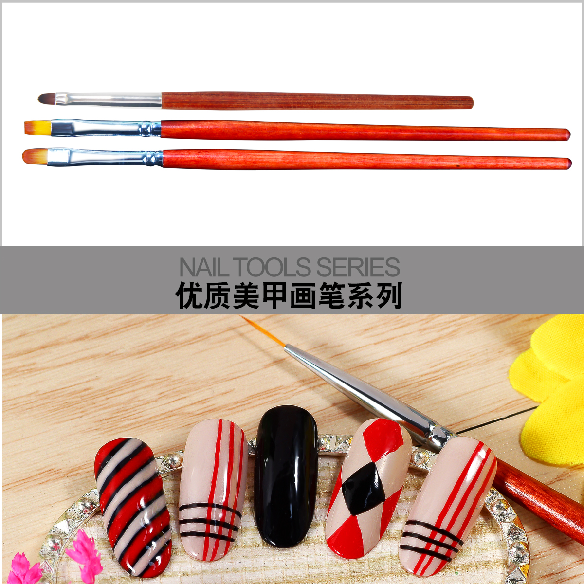 Manicure pen shaped brush brush head with phototherapy sticking brush pen petals glue suit full set of Manicure tools