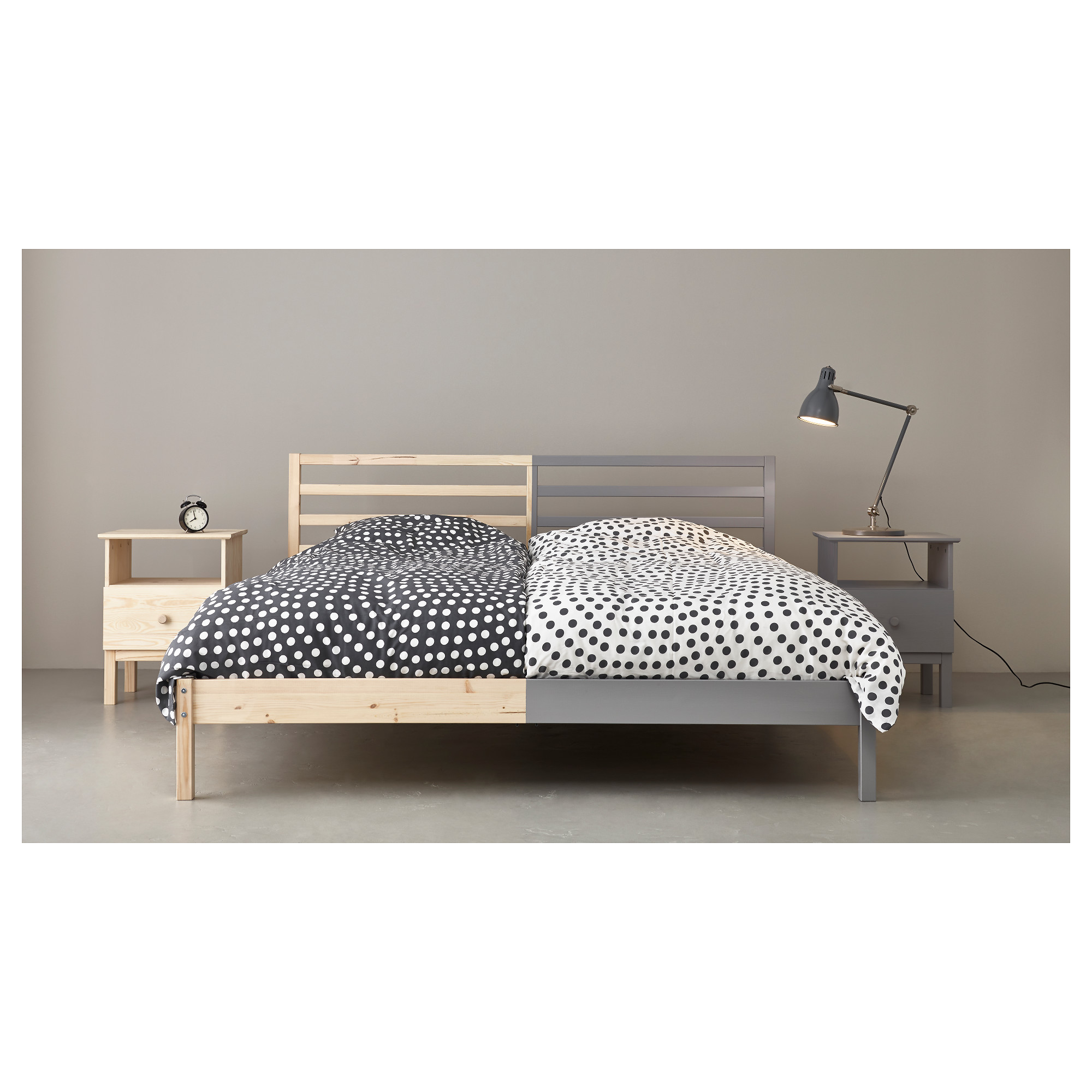 Shanghai IKEA domestic purchasing IKEA Srivastava double bed frame solid pine 150 bedroom furniture and 180cm wide
