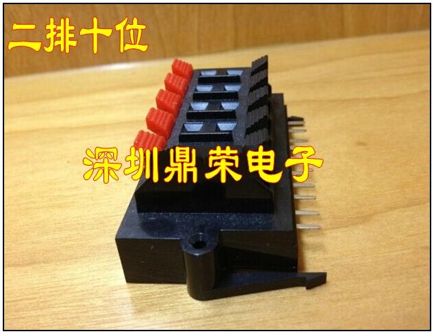 La conexión de la base de la Caja acústica altavoz 10P terminales de conexión de primavera la columna 10 pruebas de tipo cerrado.