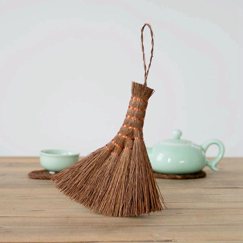 簡款藝之初 手編棕絲茶刷茶盤掃帚茶具刷天然茶筆裝裱刷茶道零配件