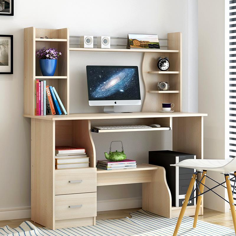 компьютерный стол настольных стол простой современный бытовой экономического типа стол, полки простой письменный стол сочетание служебных стол