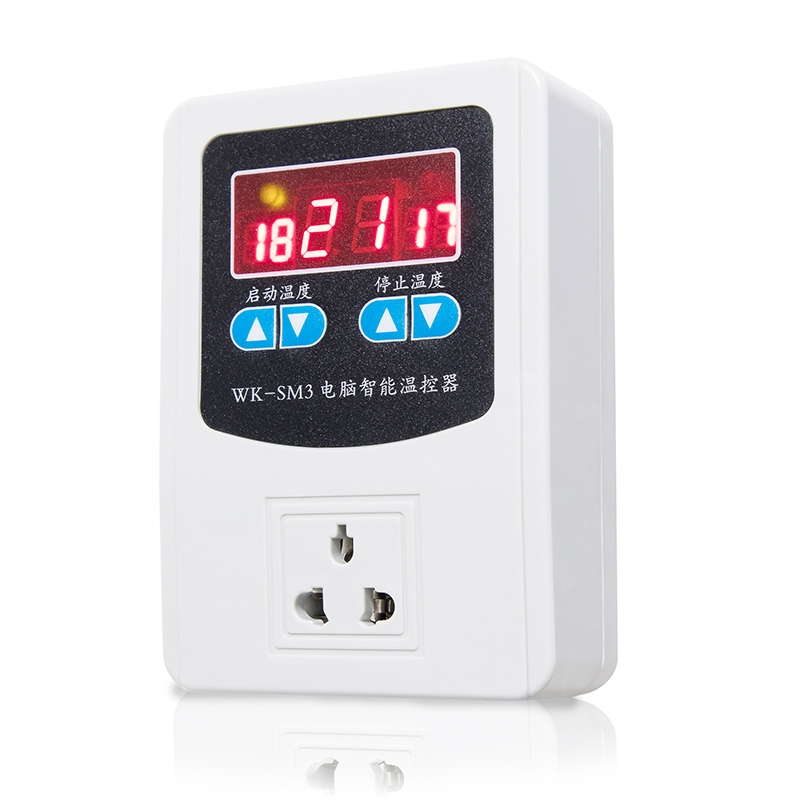 temperature controller skift justerbare temperatur intelligente gulwarme vandvarmer automatisk digitalt display 220v kedel temperature controller