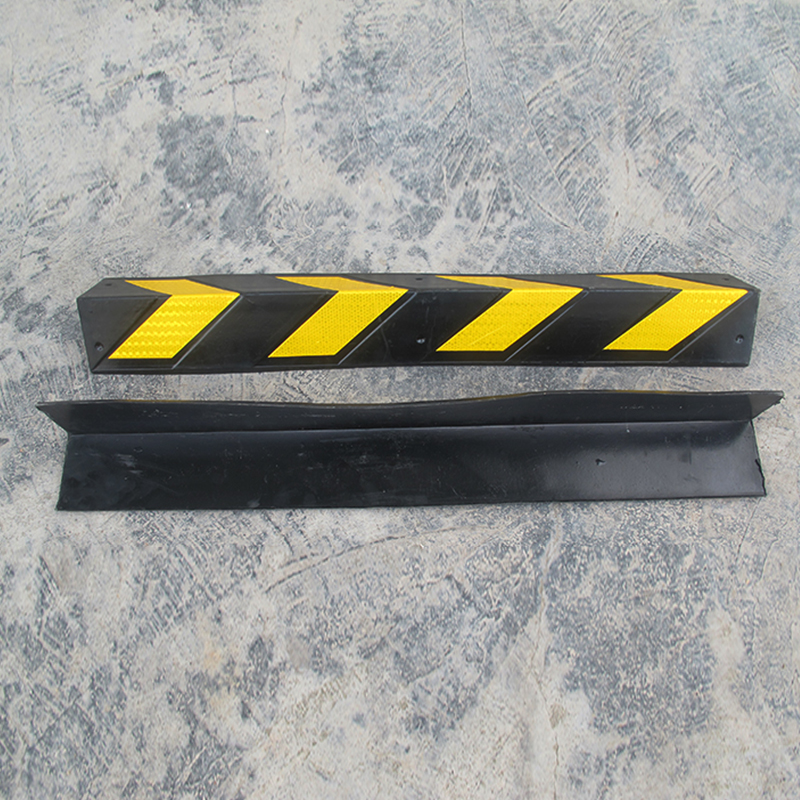 60cm rubber bead yellow reflective black corner protector protector parking lot safety signs reflecting strip