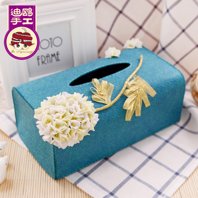 The package DIY Handmade Youdi gull non-woven fabric material package free cutting paper-cut box paper towel box