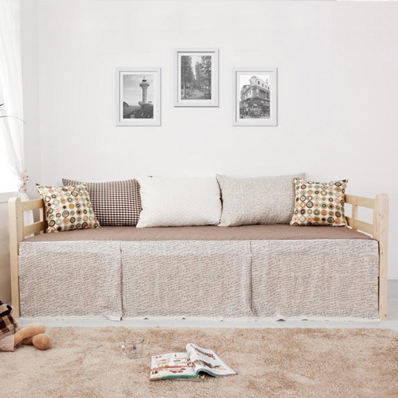 木造ソファベッドの小型ソファーソファーベッドペアリビング保存怠け者両用ソファベッド収納ソファ
