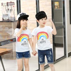 【拍2件】儿童短袖T恤 男童纯棉童装女童宝宝中大童韩版夏装上衣